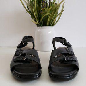 SAS Black 3 EZ Strap Tabby Slingback Sandals 7 N